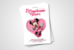 invitation card, birthday, grafica, graphic design, birthday baby, baby, children, minnie, minnie mouse, disney