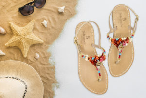 handmade sandals, handmade, sandals, coral, sea, jewels, swarovski, amalfi coast, bellogrado, amalfi, shop online, daniele barone, photography, graphic, digital