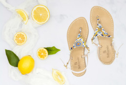 handmade sandals, handmade, sandals, ceramic, jewels, swarovski, amalfi coast, bellogrado, amalfi, shop online, daniele barone, photography, graphic, digital